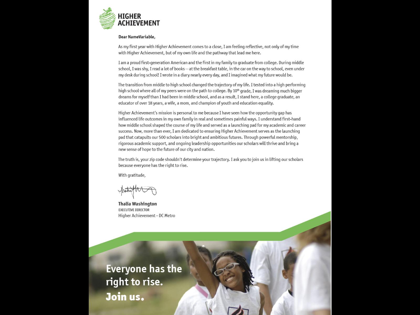 DC Appeal Letter