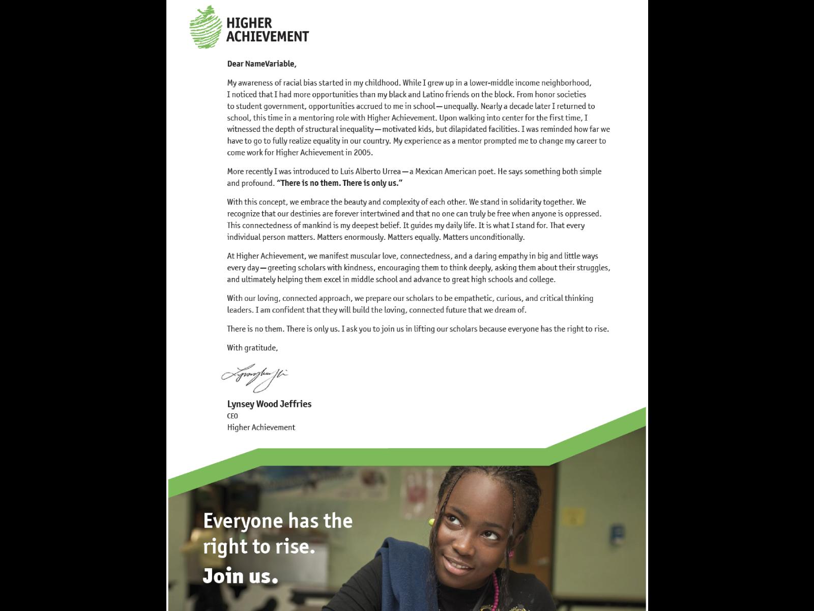 National Appeal Letter