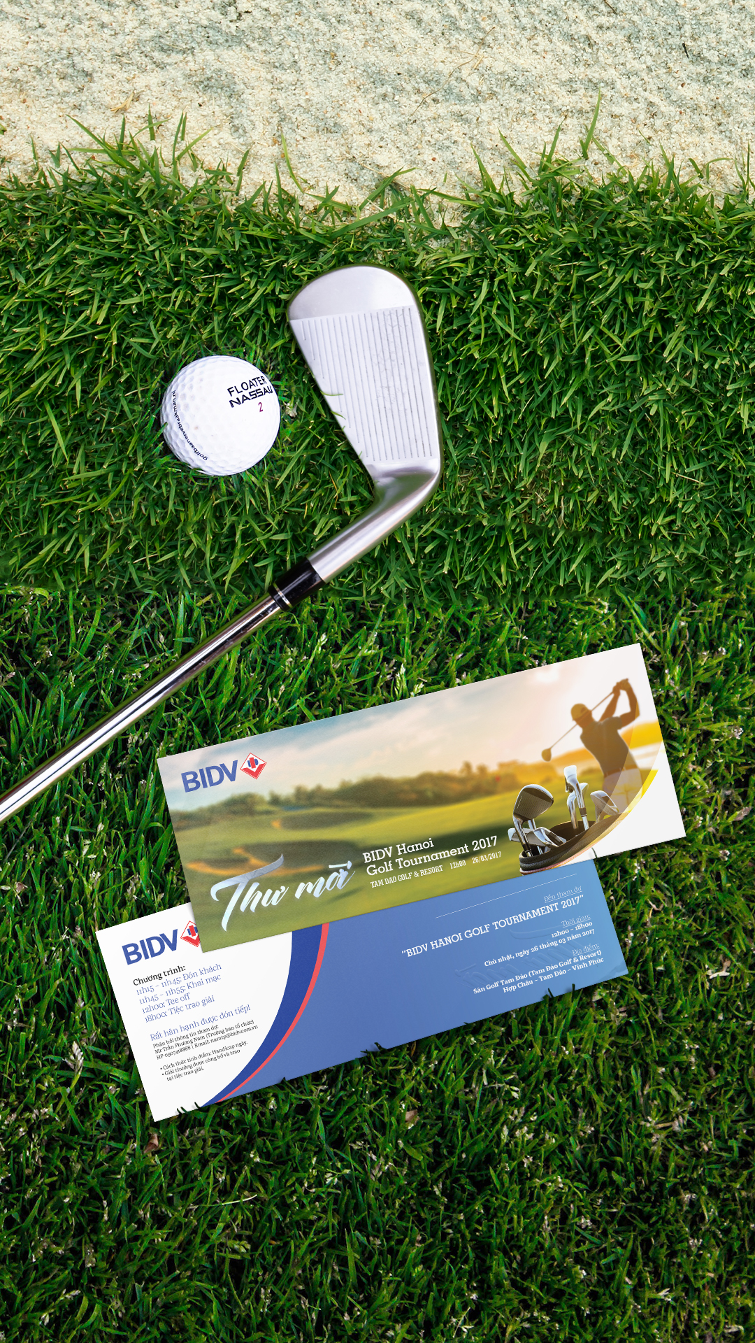 BIDV Golf Tournament Invitation Card