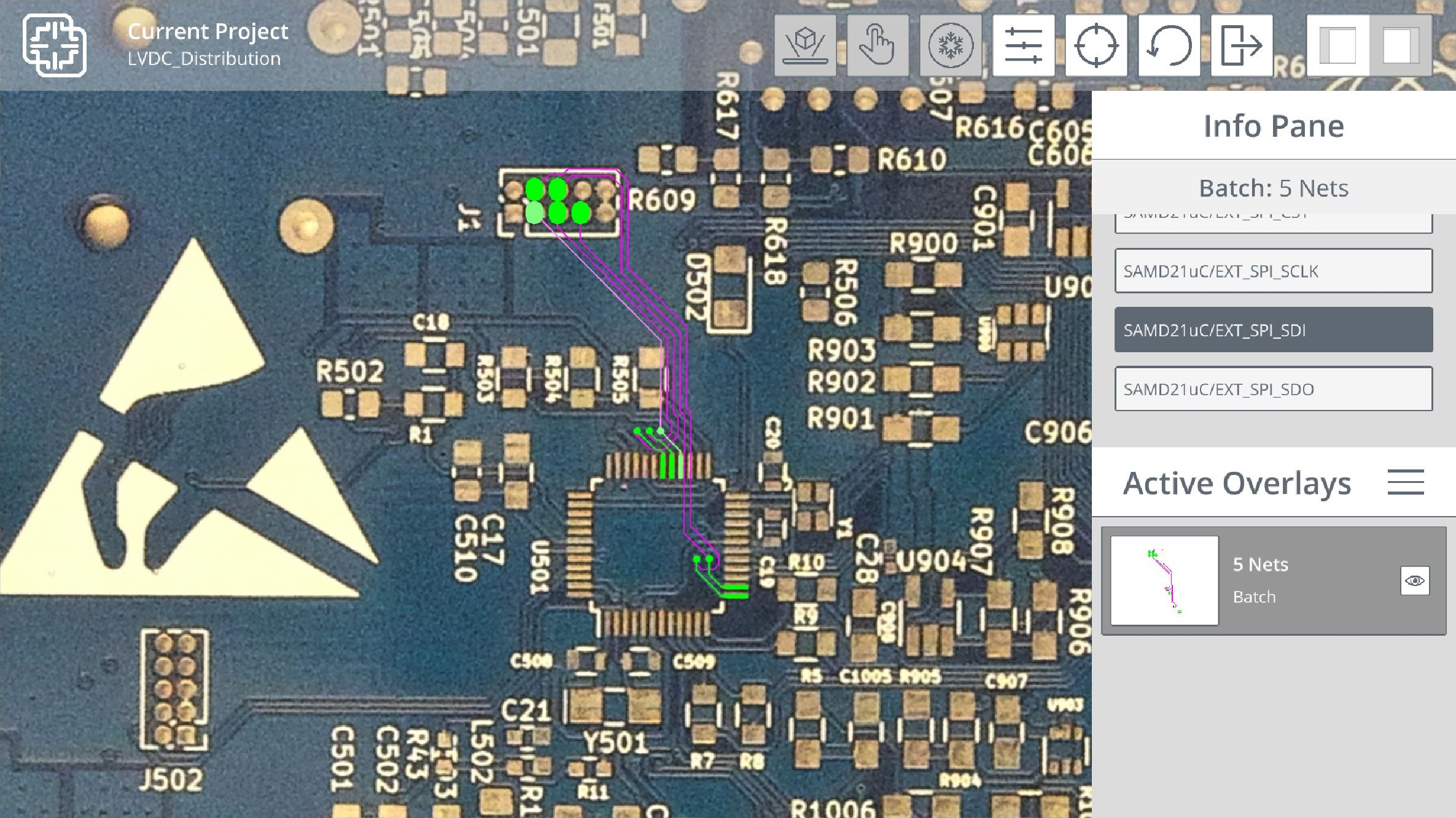 PCB Signal mapping in Augmented Reality