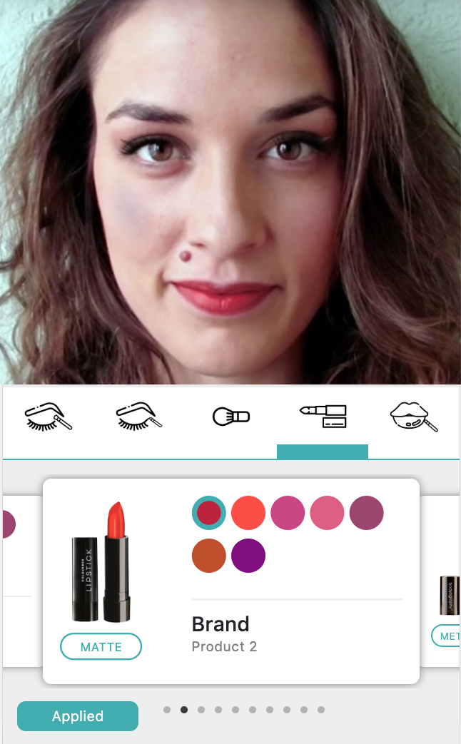 makeup virtual try-on, liveAR