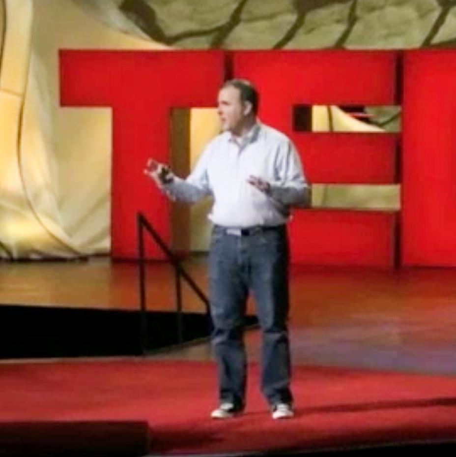 Tod Martin on stage as a TED Talks speaker