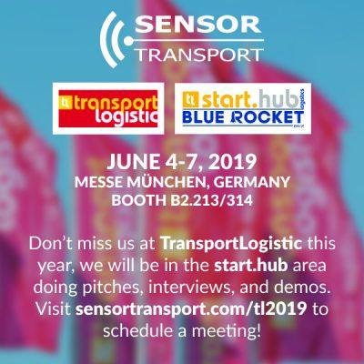 Sensor transport event flyer in Munich