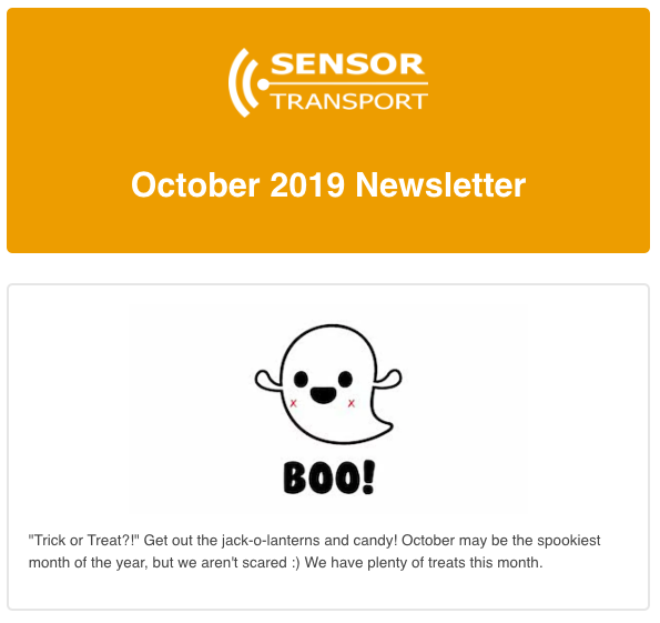 Sensor Transport October 2019