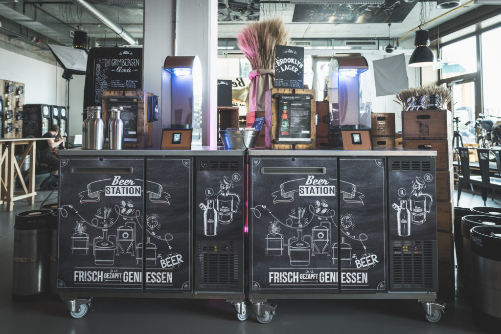 qiio beer station at mobile world congress 2019