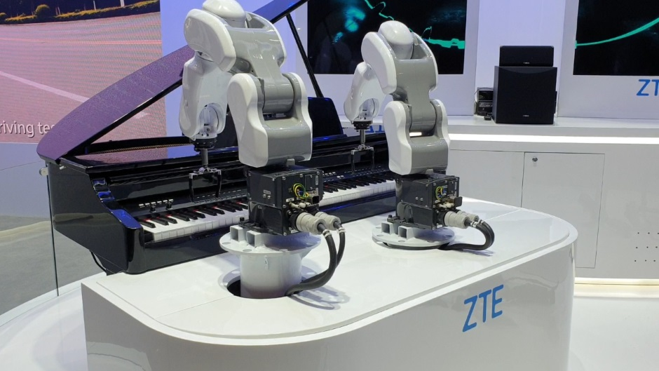 ZTE Robot Musicians at Mobile World Congress 2019