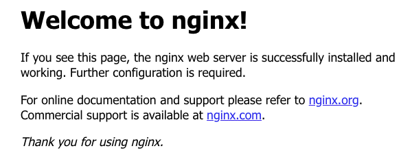 hello nginx