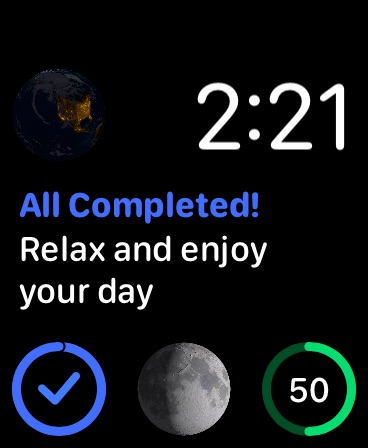 Completed on watchOS