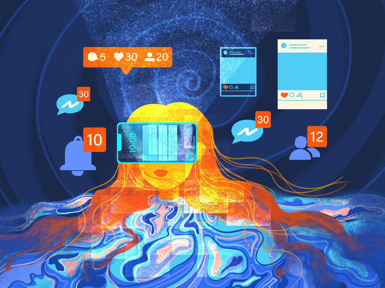 lost, social media, addiction, phone distractions