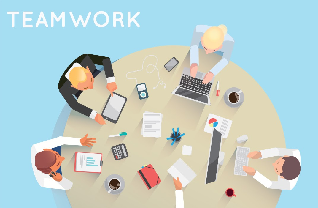 Teamwork skill is one of successful work habits
