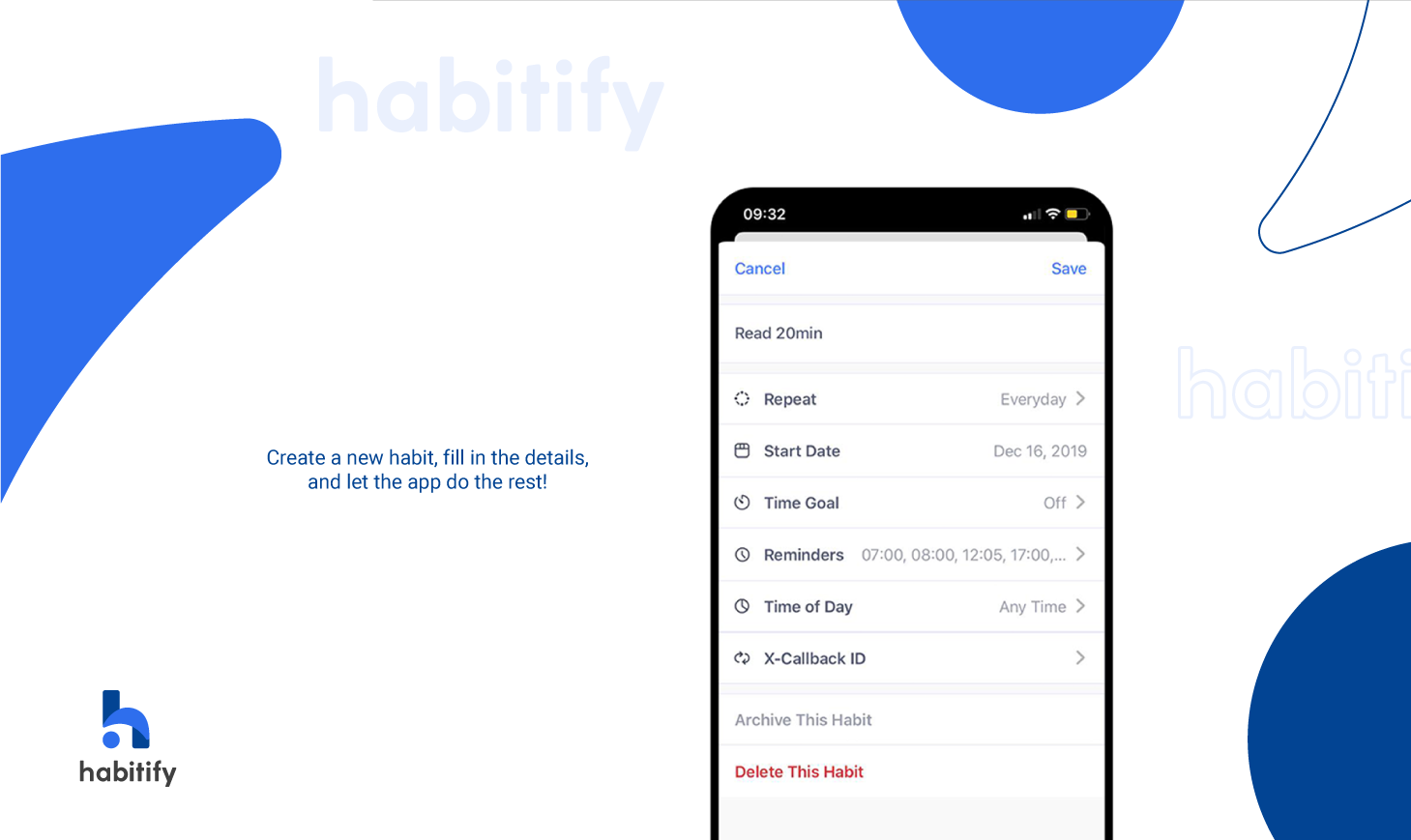 Habitify, best habit tracking app, automated habit tracker