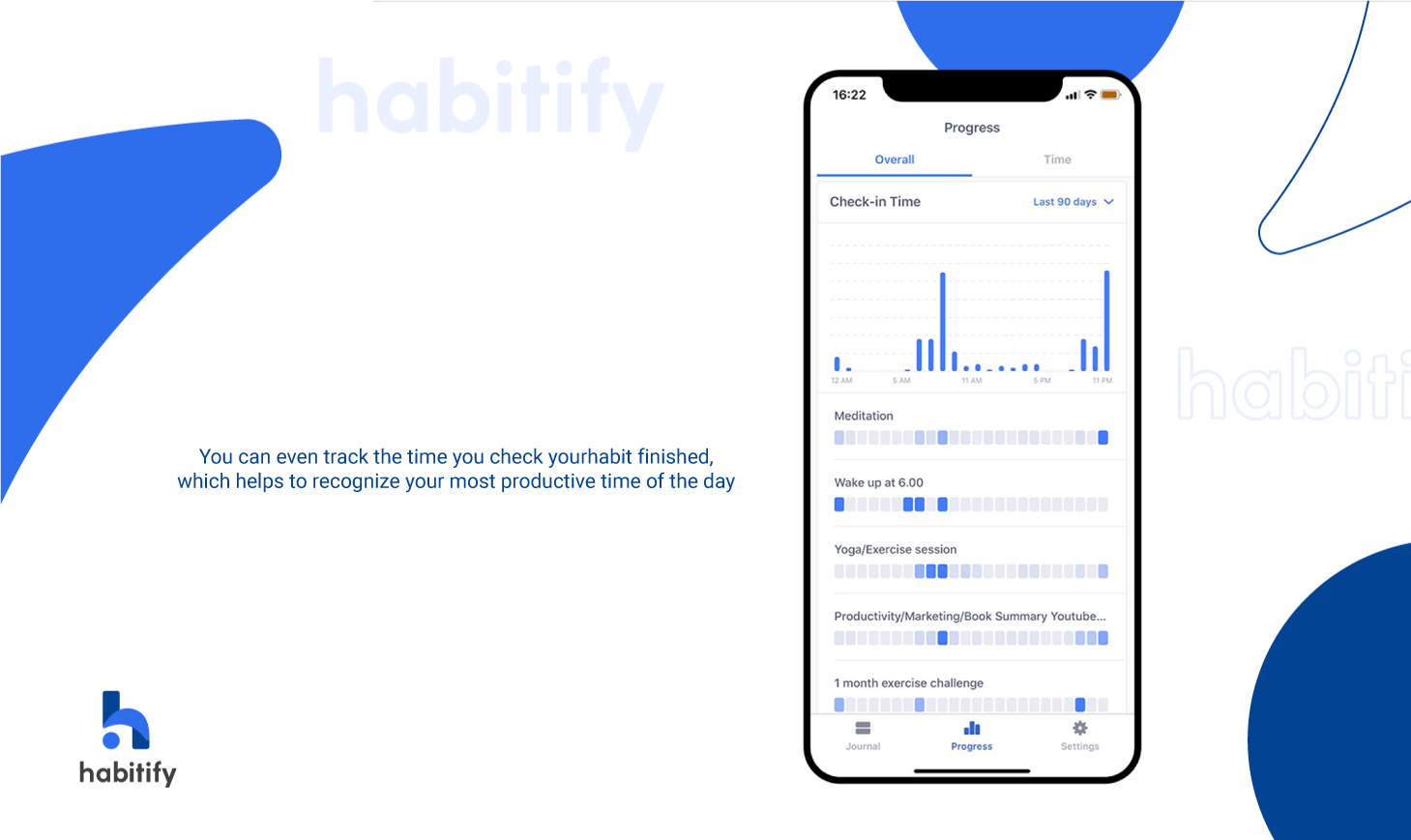 Habitify, best habit tracking app, automated habit tracker, habit tracker statistics, check-in time
