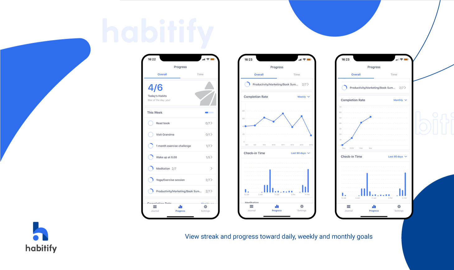 Habitify, best habit tracking app, automated habit tracker, habit tracker statistics, completion rate