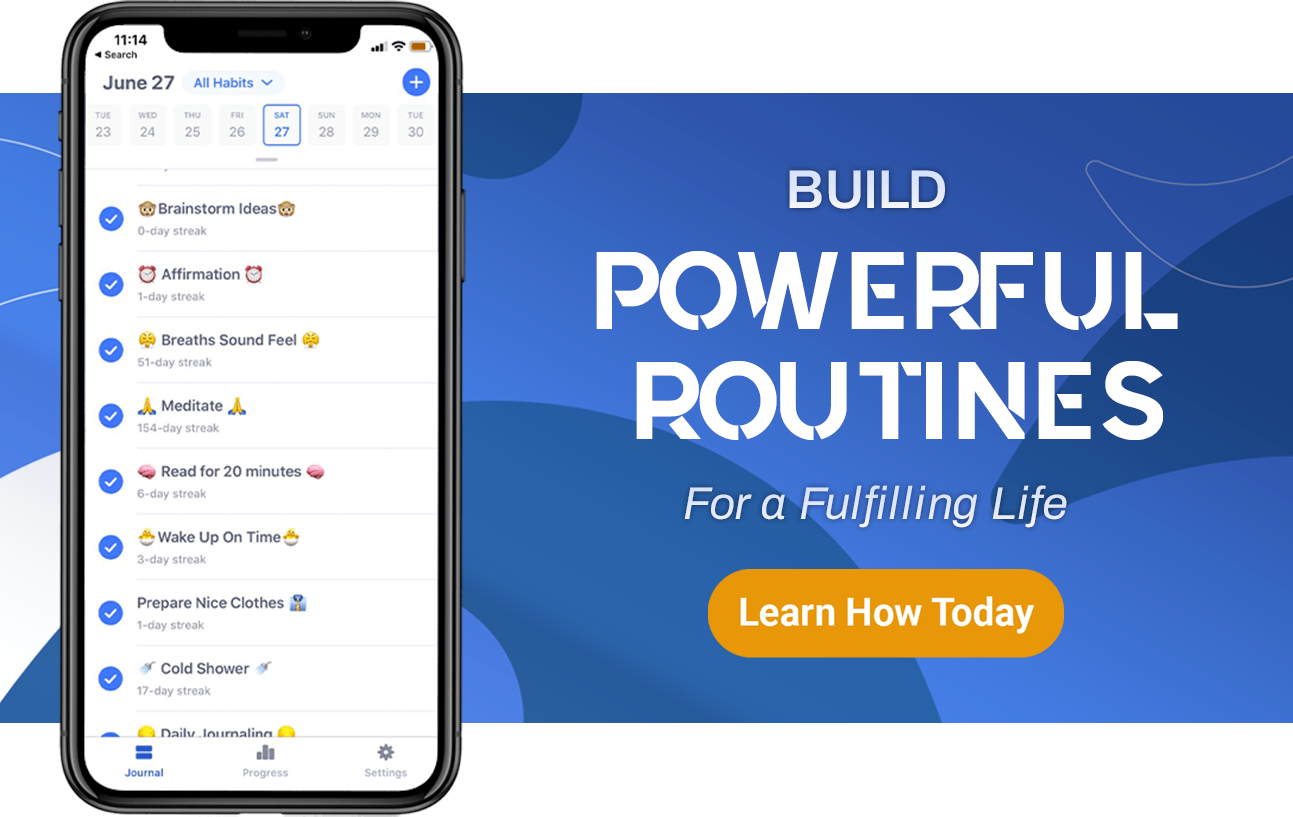 build powerful habits routine for a fulfilling life