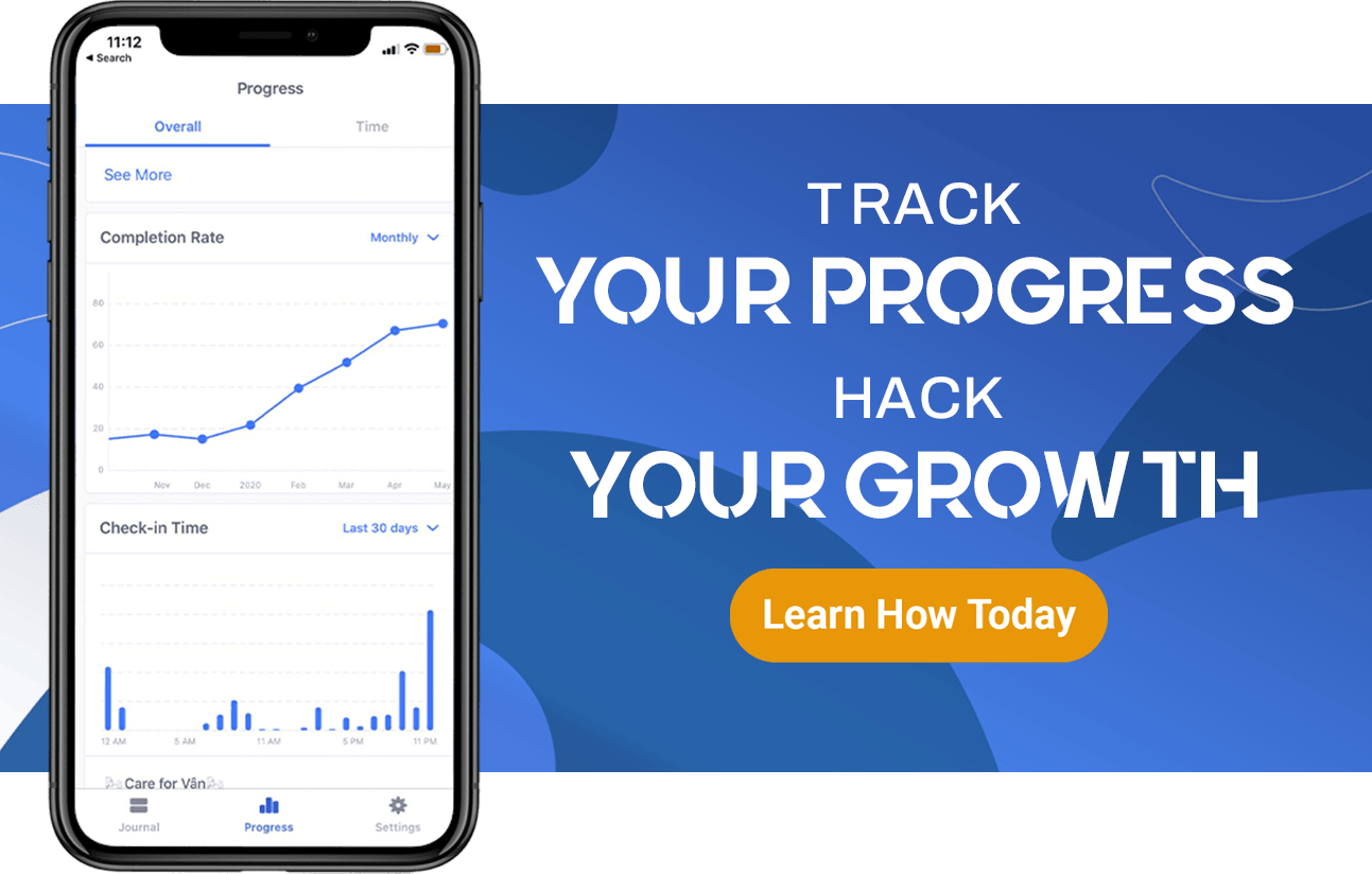 track your progress, hack your growth with Habitify