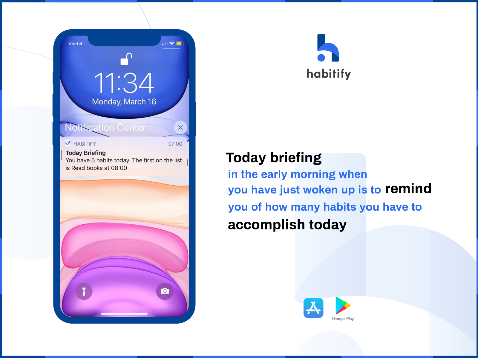 Habitify reminder reminds you to actually do your habits