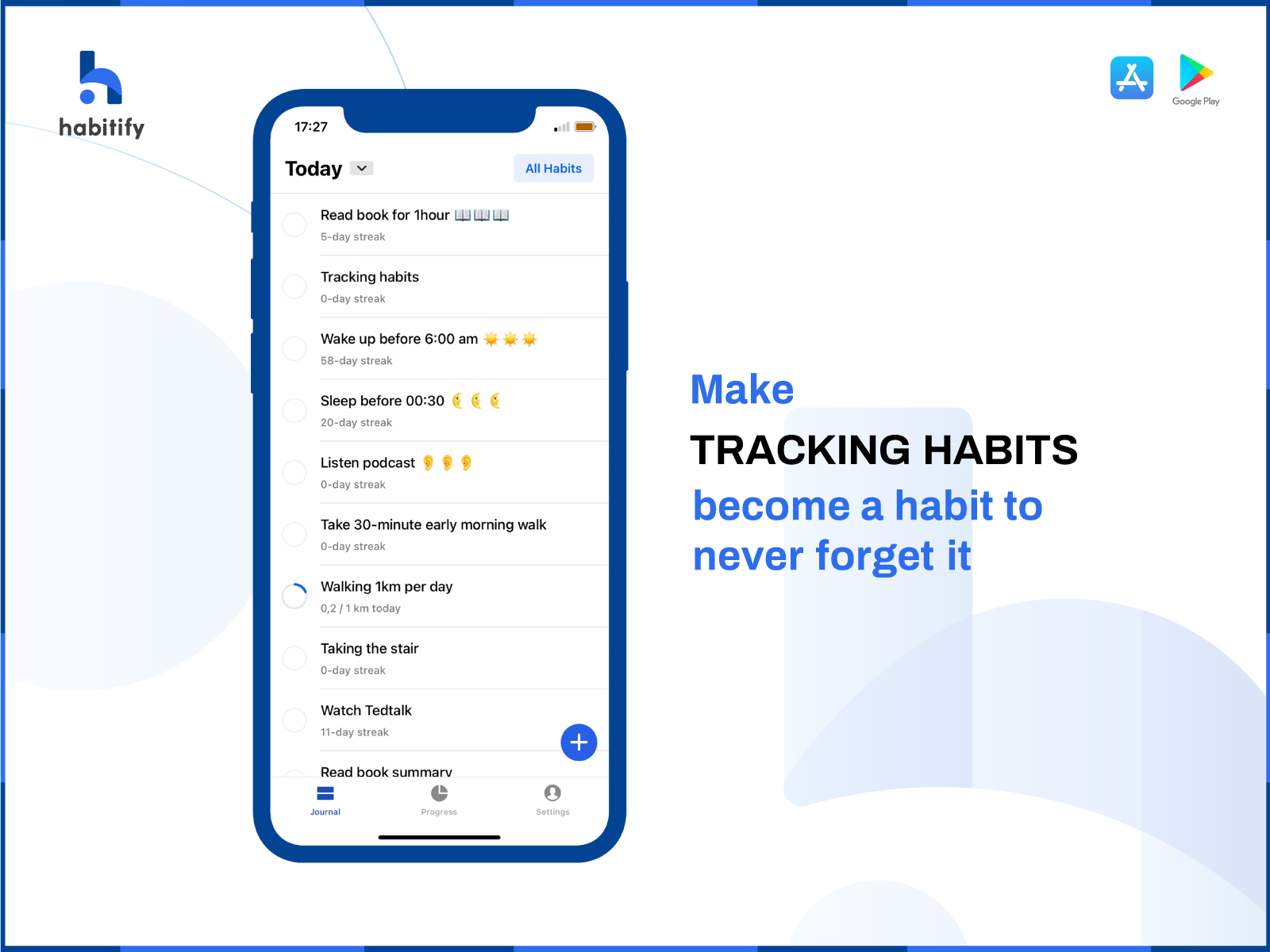 build the habit of habit tracking