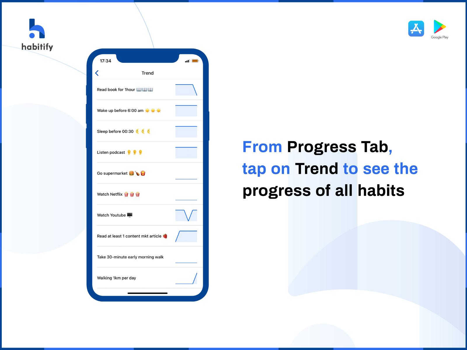 Habitify progress tab