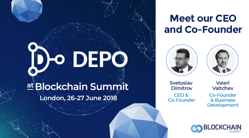 Depository Network DEPO participated at Blockchain Summit London, 26-27 June 2018