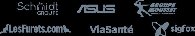 Logos de clients qui font confiance à Taleez