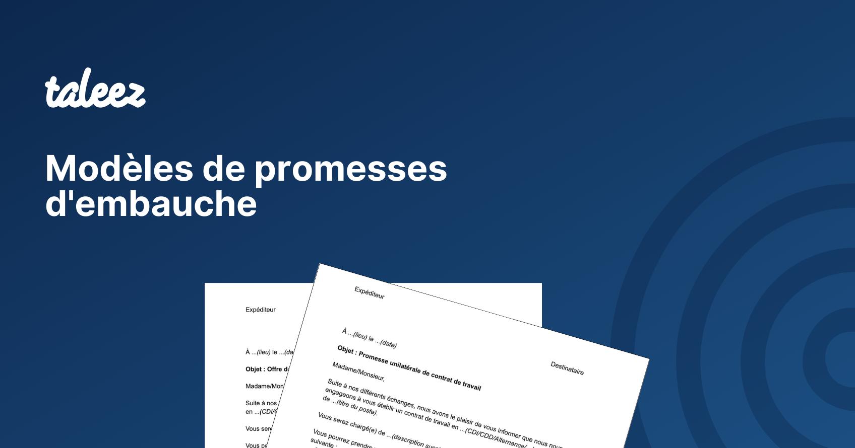 Modeles De Promesse D Embauche A Telecharger