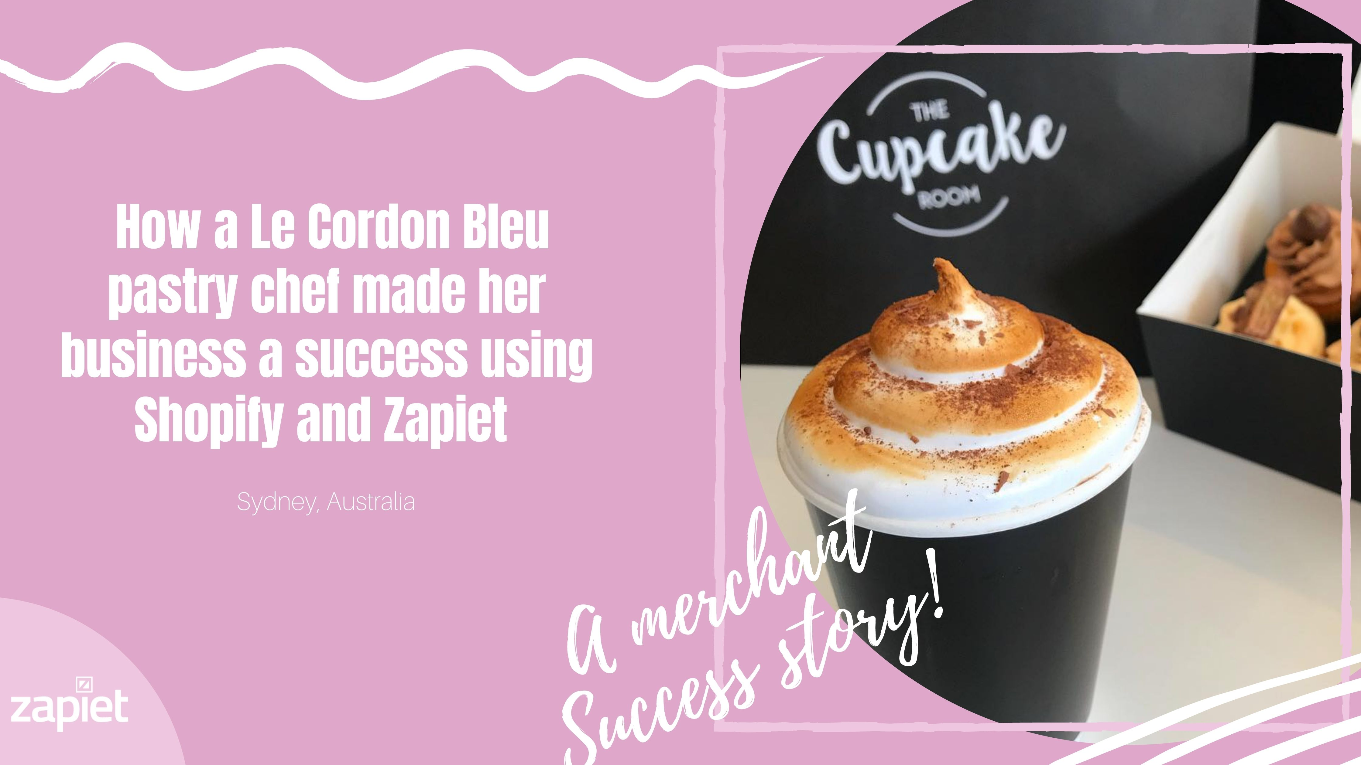 Cómo una pastelera de Le Cordon Bleu convirtió su negocio en un éxito con Shopify y Zapiet