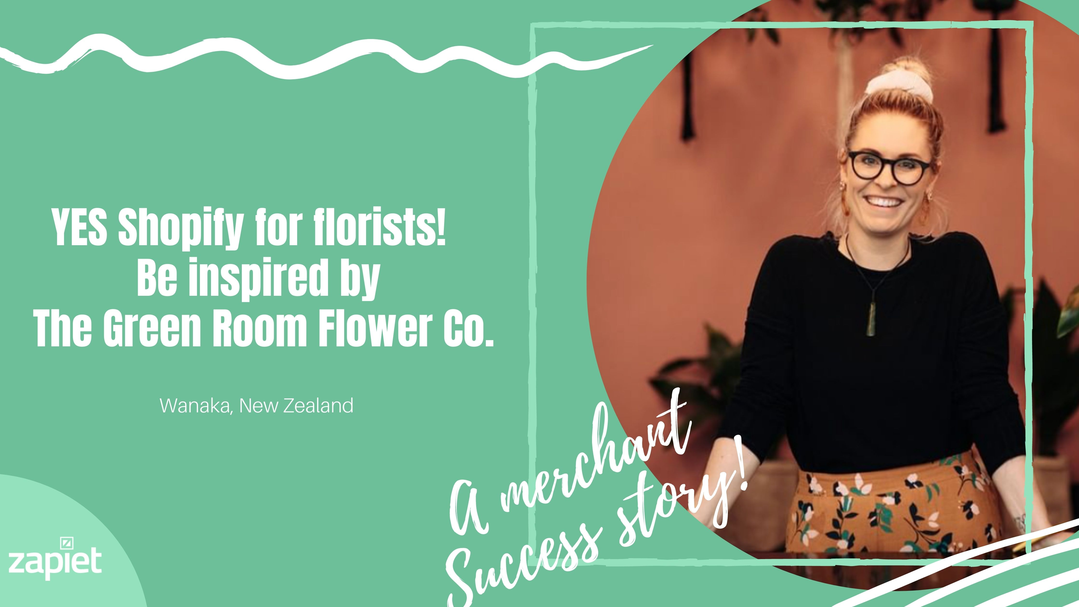 YES Shopify for florists! Be inspired by The Green Room Flower Co