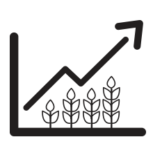 Crop graph icon