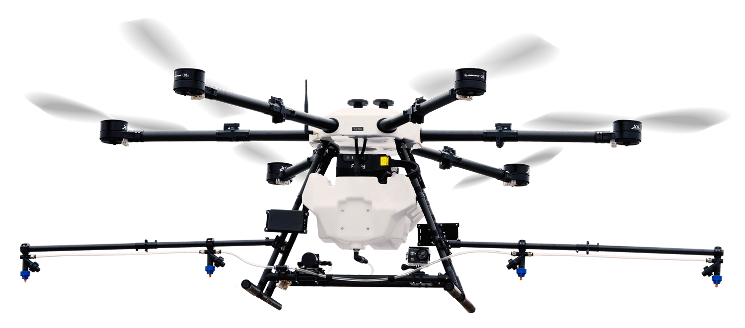 Agricultural spray drone cut out
