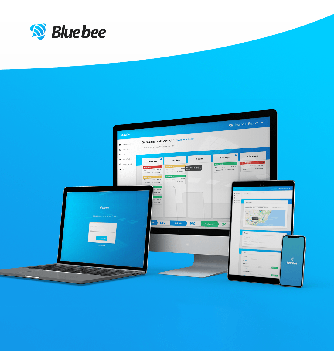 Blueebee - Product Branding, Website and Application Redesign