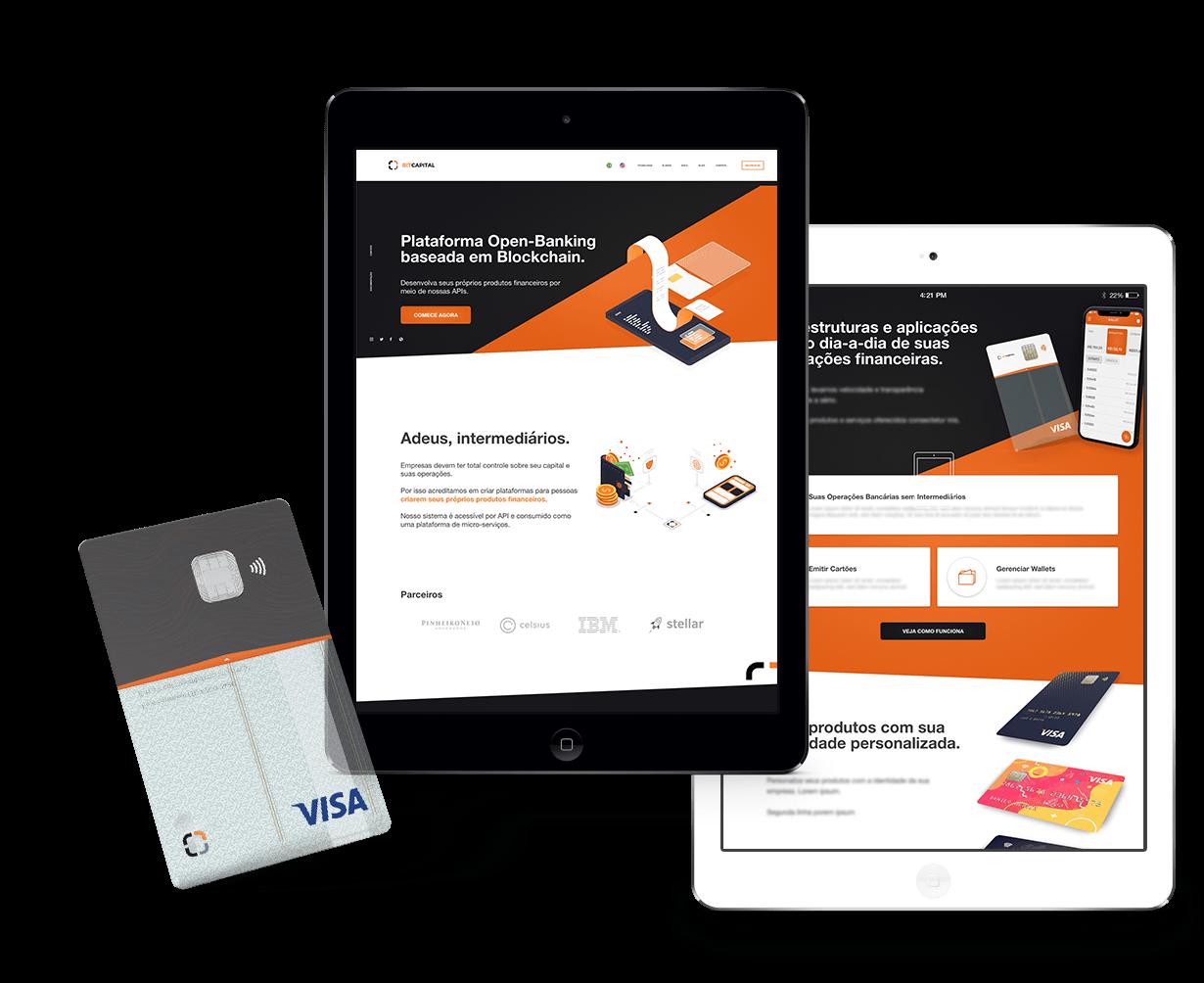 Bit Capital - Website and Credit Card Design