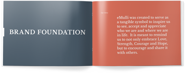 Brand foundation booklets help you build your brand and grow your business. Made with Goodness, a creative marketing agency in Raleigh NC