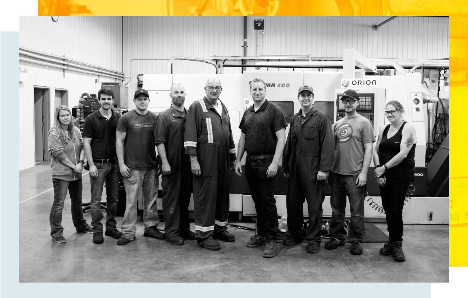 Orion machining & design team