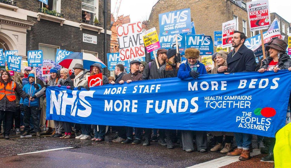 NHS protestors