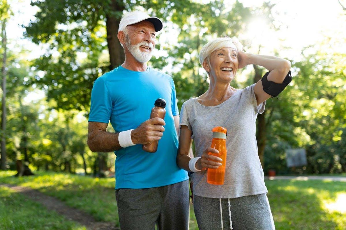 Senior fitness couple