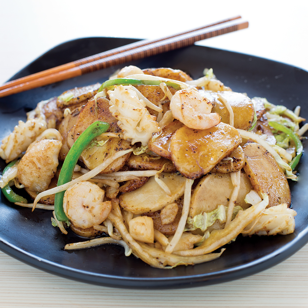 Shanghai Pan-Fried Rice Cake