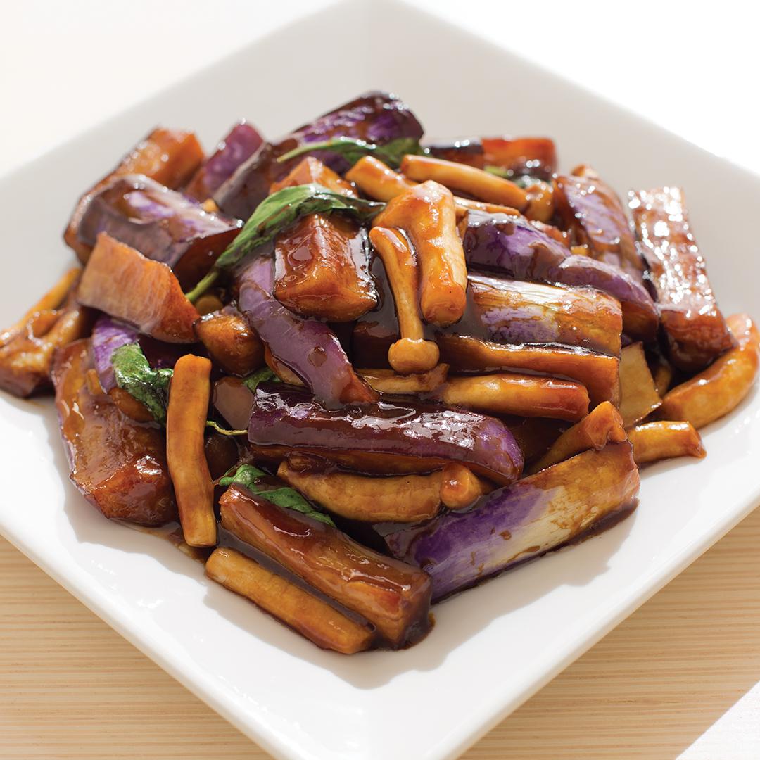 Eggplant & Mushroom w/ Basil