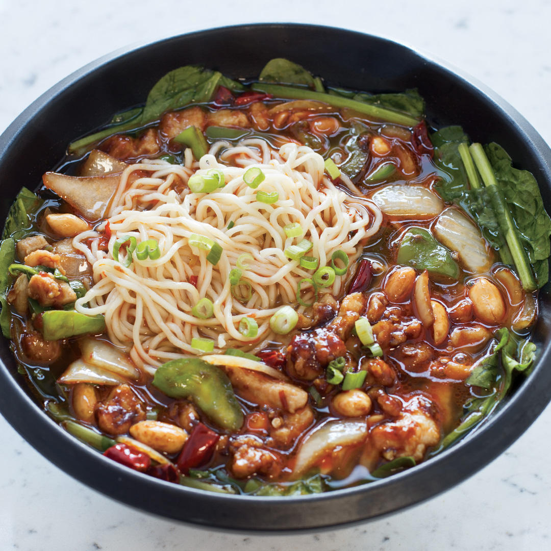 Kung Pao Chicken Noodle Soup