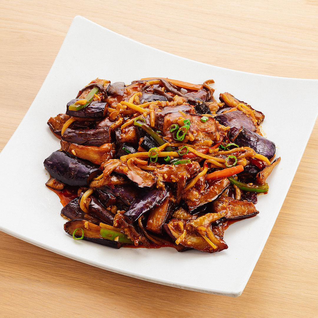 Garlic Sauce Eggplant w/ Shredded Pork