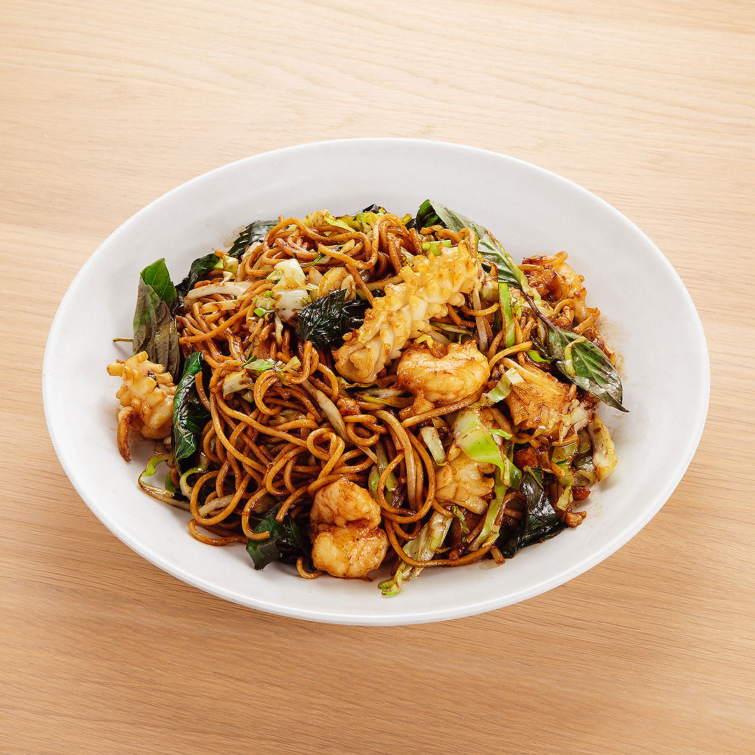 House Seafood Chow Mein w/ Basil