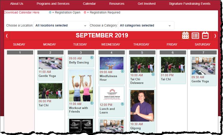 Gnosis Calendar - one of many web widgets