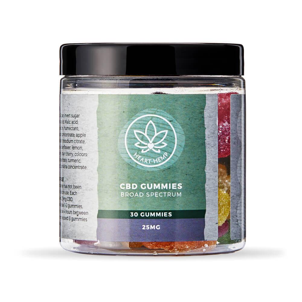 CBD Gummies 25mg, Broad Spectrum (30 Gummy Bears)