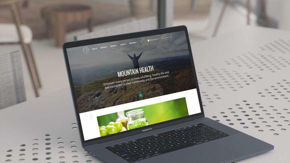 Mountain Health Website Prototype Image