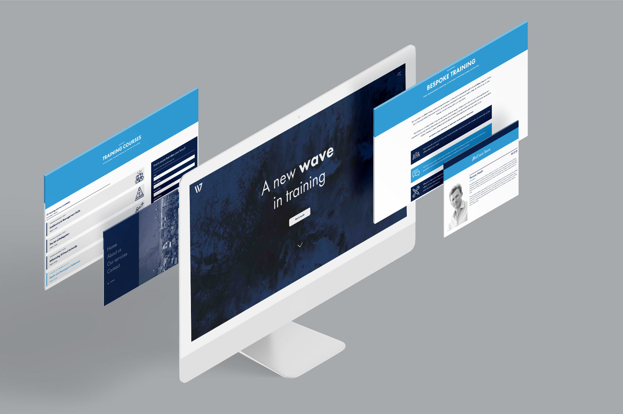 Seventh Wave Corporate Training website design