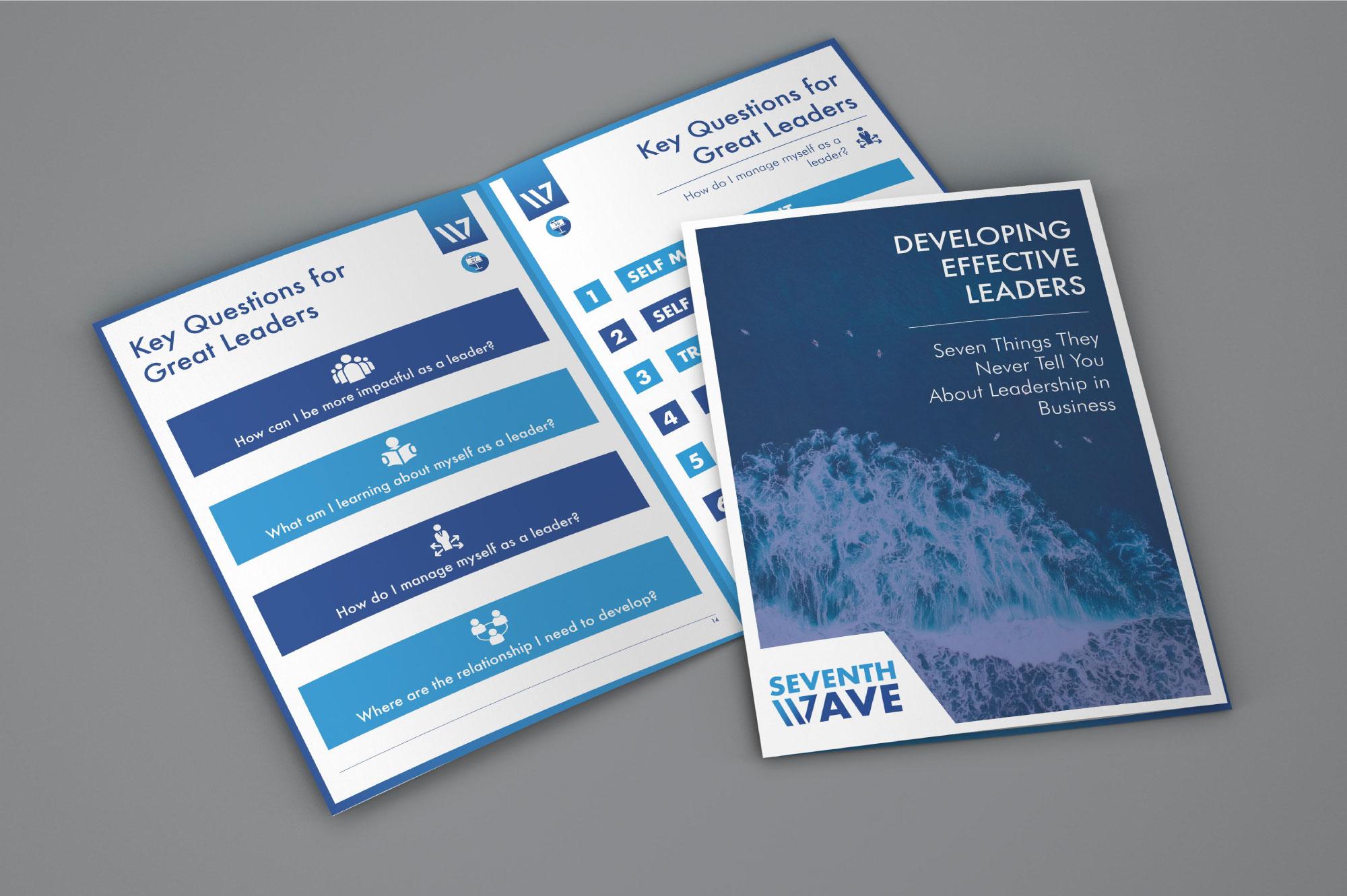 Seventh Wave Corporate Training Brochure Design