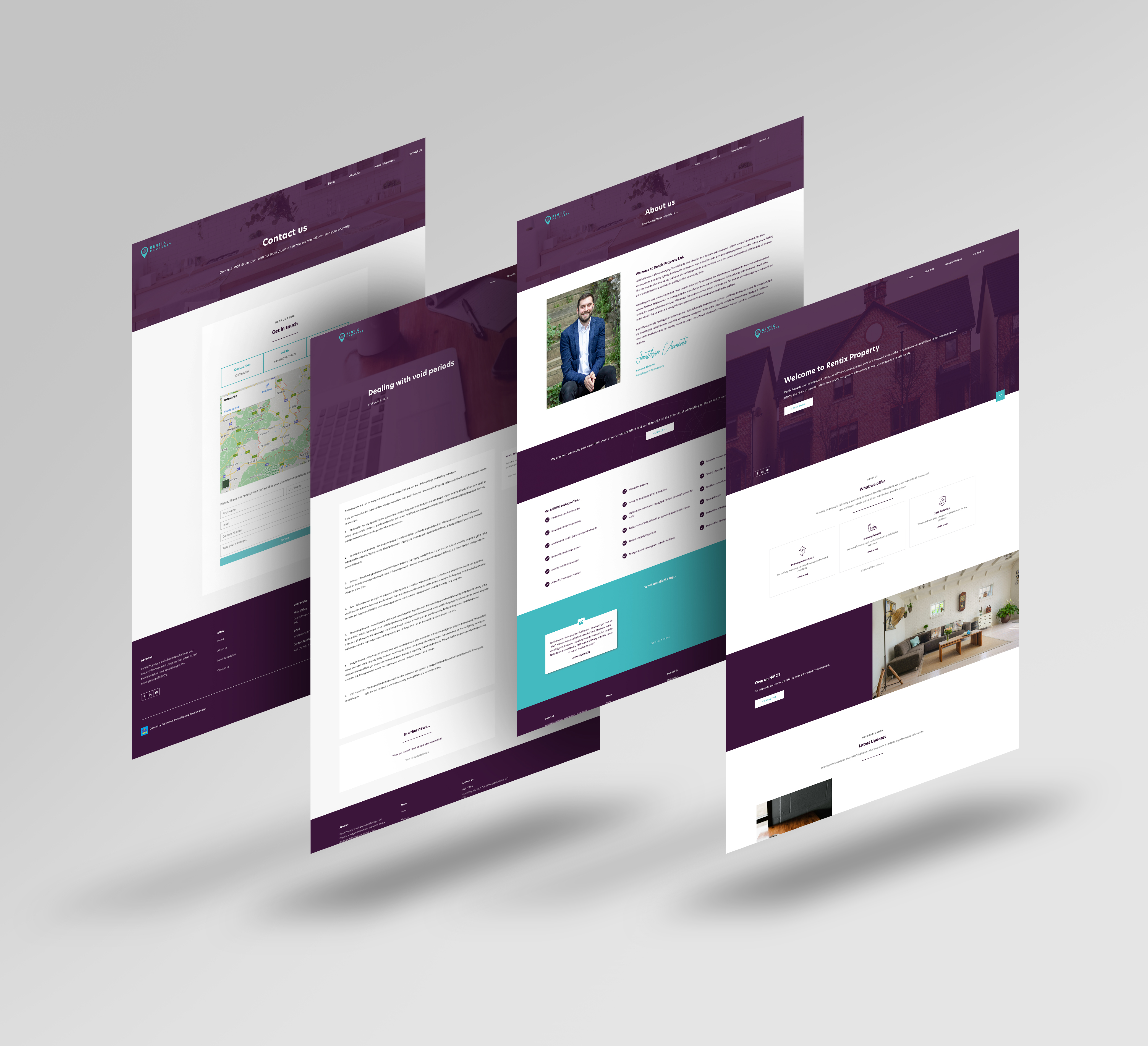 Rentix Property website mockup
