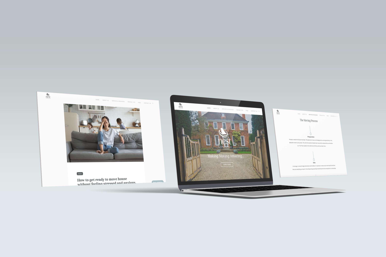 Nest Concierge Website Mockup