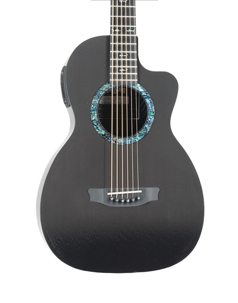 A little guitar that packs a full, bright sound and a rich depth of tone typical of RainSongs