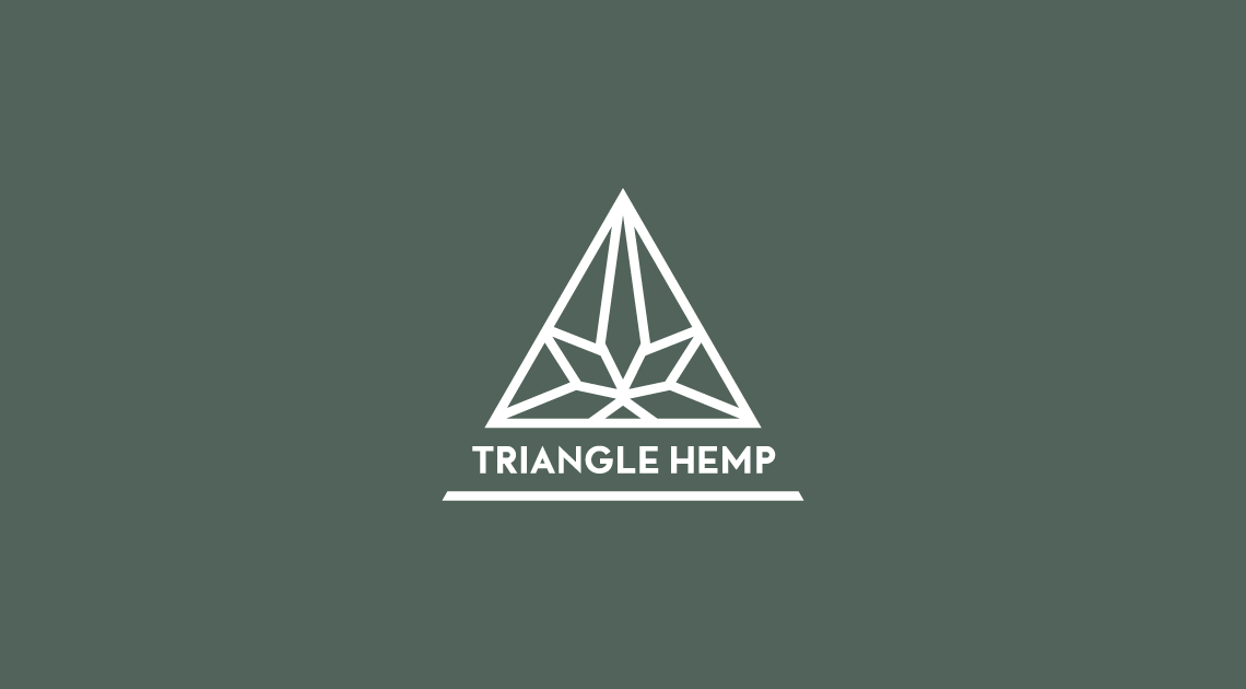 Logo and identity design for Triangle Hemp