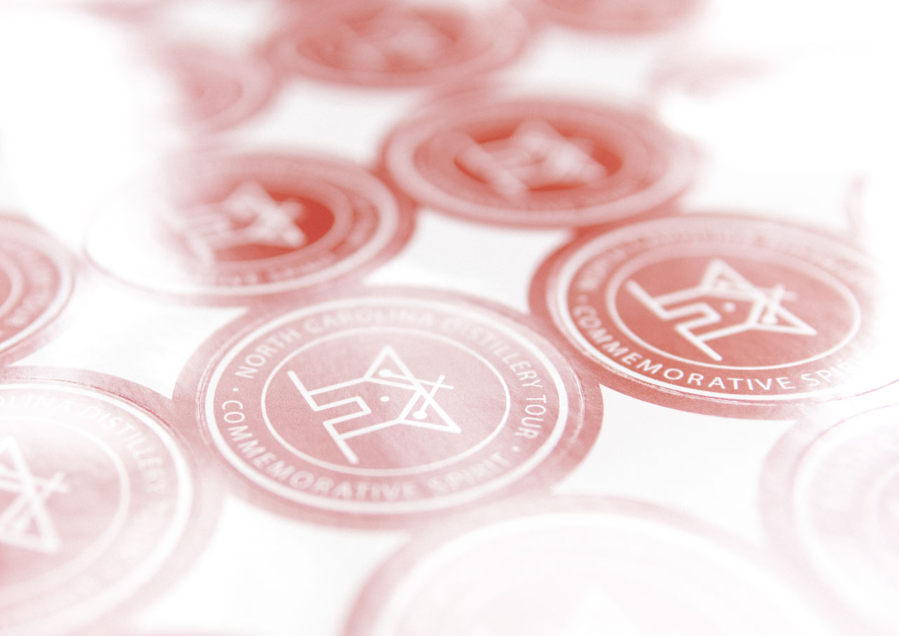 Photo of distillery sticker design for Social House Vodka • made by Goodness brand and marketing agency